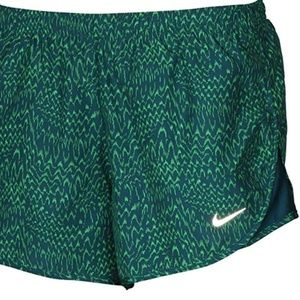 Nike Women's Dri-Fit Running Shorts Green Size XL